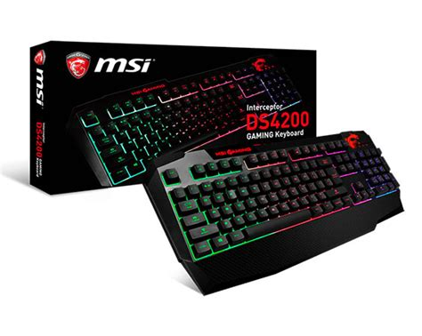 Msi Interceptor Ds4200 msi lanza el teclado gamer msi interceptor ds4200 con