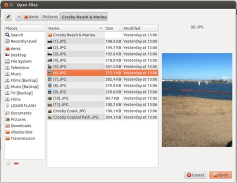 howto share mobile broadband in ubuntu using only the gui nautilus how to change the fileupload dialog files view