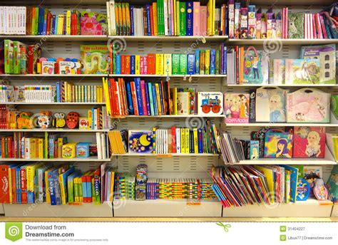 children books at bookshop editorial photography