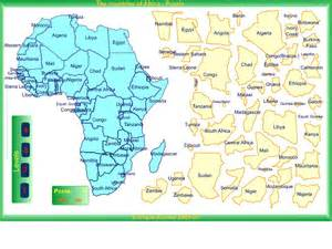Africa Map Puzzle by Pics Photos Africa Puzzle Map