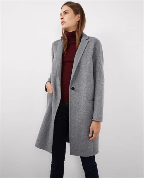 manteau cape comptoir des cotonniers manteau officier avec medium grey