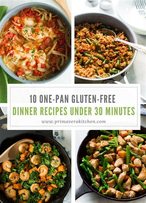 10 one pan gluten free dinner recipes under 30 minutes