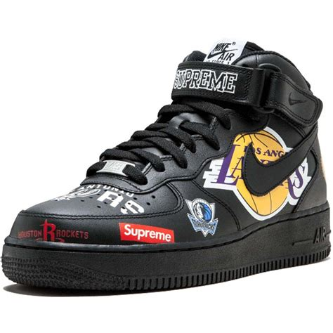 Supreme Nike Air 1 by Supreme X Nba X Air 1 Mid 07 Black