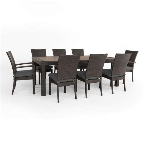 rst brands deco 9 patio dining set with charcoal