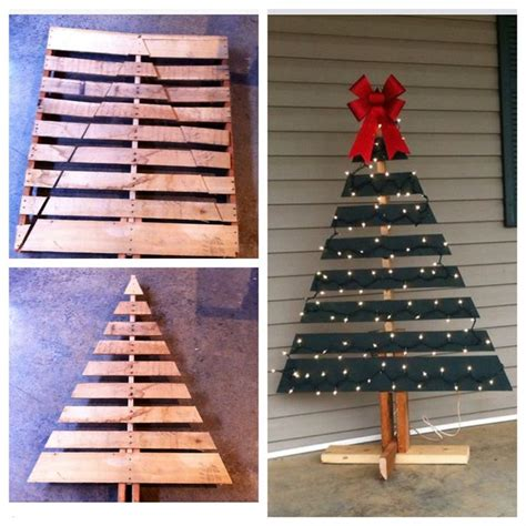 christmas tree pallet pattern diy wooden pallet made into a front porch christmas