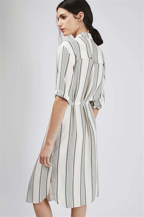 stripe belted shirt dress topshop