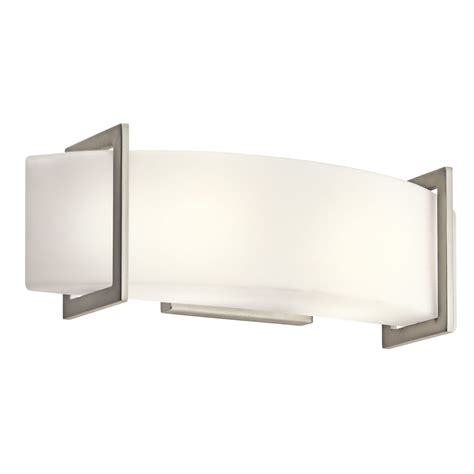 Kichler Bathroom Light Fixtures Kichler Lighting 45218ni Crescent View 2 Light Bath Fixture Brushed Nickel With Opal Etched