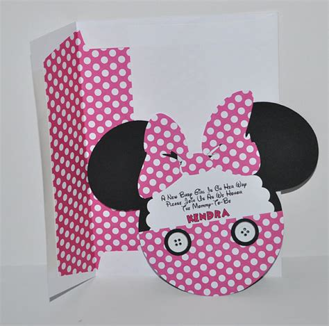 Minnie Mouse Baby Shower Invites by Baby Shower Invitations Minnie Mouse Baby Shower
