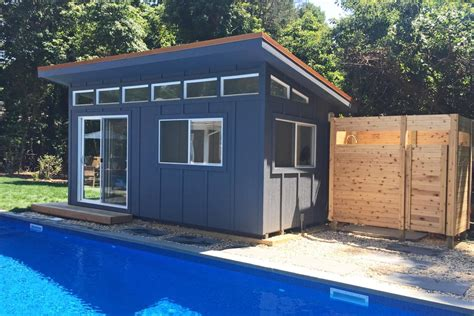 prefabricated pool houses prefab pool house with bathroom 7 the minimalist nyc