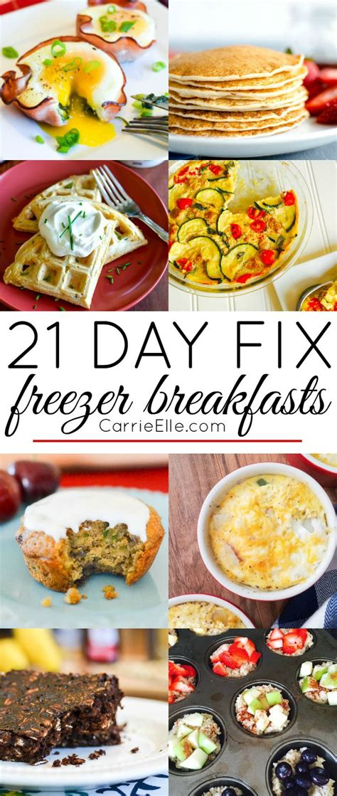 8 Fix Breakfasts For by Best 25 21 Day Fix Snacks Ideas On Shakeology
