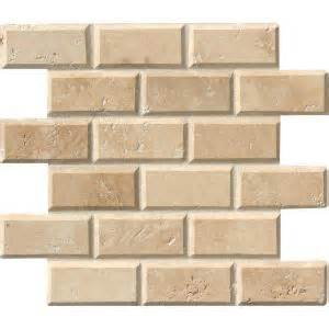 ms international tuscany ivory 12 in x 12 in x 10 mm honed beveled travertine mesh mounted