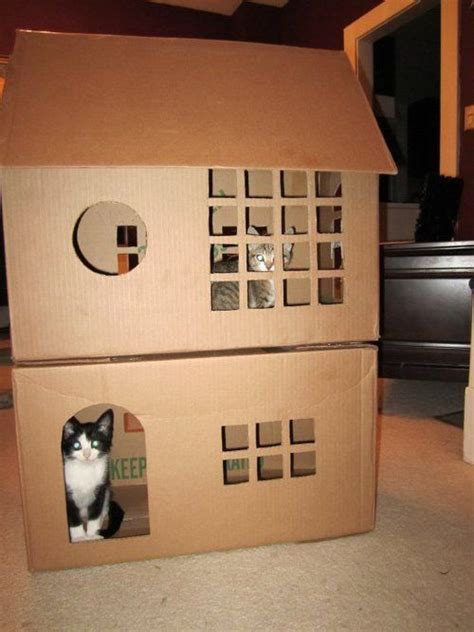 cardboard house for cats 25 best ideas about cardboard cat house on pinterest cardboard houses cardboard