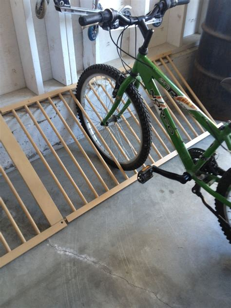 Make a bike rack out of a old baby crib!   Cool ideas