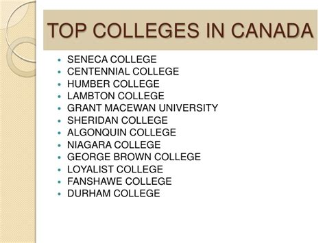 Mba Colleges In Canada by Canada Study Visa Process