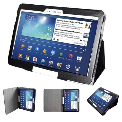 Samsung Tab 5 Terbaru gt p5200 p5210 p5220 folio slim pu leather stand cover