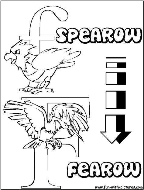 Jangmo O Coloring Page by F Spearow Fearow Alphabets Coloring Pages