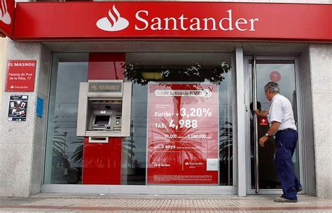 horario banco santander valencia oficina 4700 banco santander banco santander coanfi s l