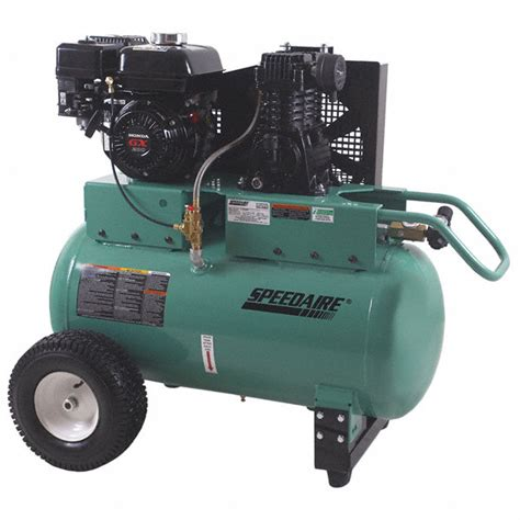 speedaire 30 gal 6 5 hp barrel portable gas air compressor 4nb84 4nb84 grainger