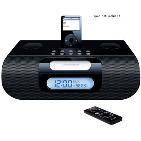 iluv i277 stereo clock radio for ipod with bluetooth i277blk