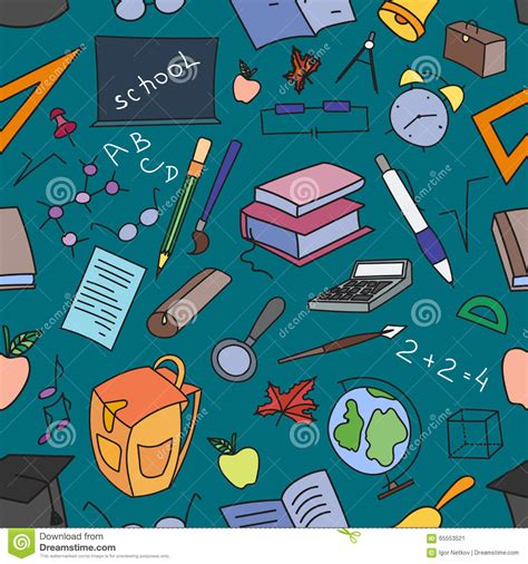 doodle learning doodle pattern of learning stock vector image 65553521
