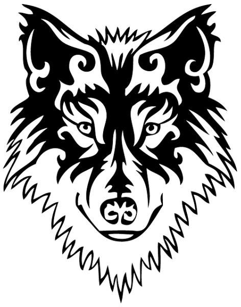 stylish tattoo png cool tribal blak ink wolf muzzle tattoo design