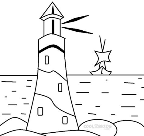 lighthouse coloring pages for kids images crafts two