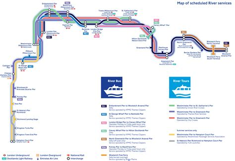 Thames River Bus Map | map of london river bus stations lines