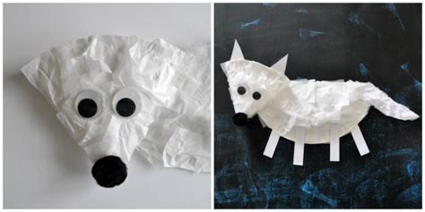 Crafts Arctic Animals And Paper On - paper plate arctic fox craft for i crafty things