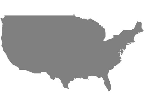 america map gray america map silhouette free vector silhouettes