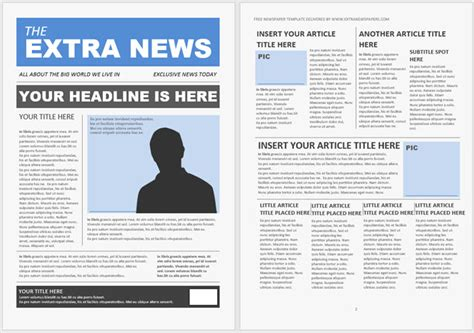 13 Free Newsletter Templates You Can Print Or Email As Pdf Newspaper Newsletter Template