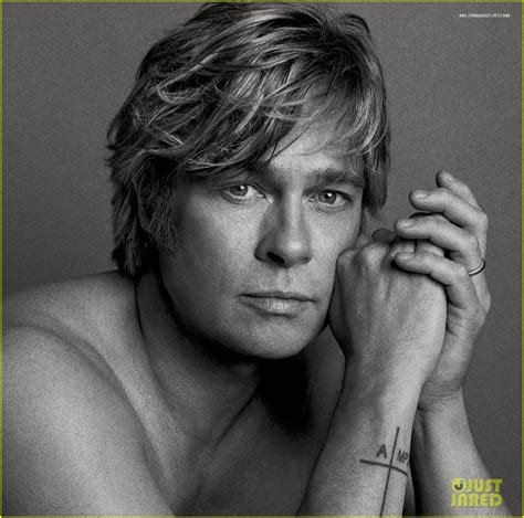 Brad Pitt V Magazine by Brad Pitt Goes Shirtless For V Mag Spread
