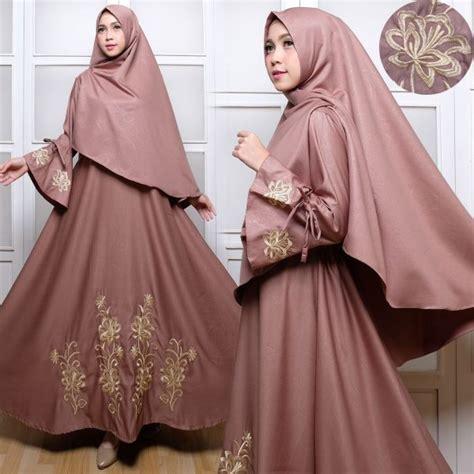 Gres Gamis Syari Syari Farina Hitam Mocca Gamis Cantik gamis syari baloteli bordir c030 baju muslim polos