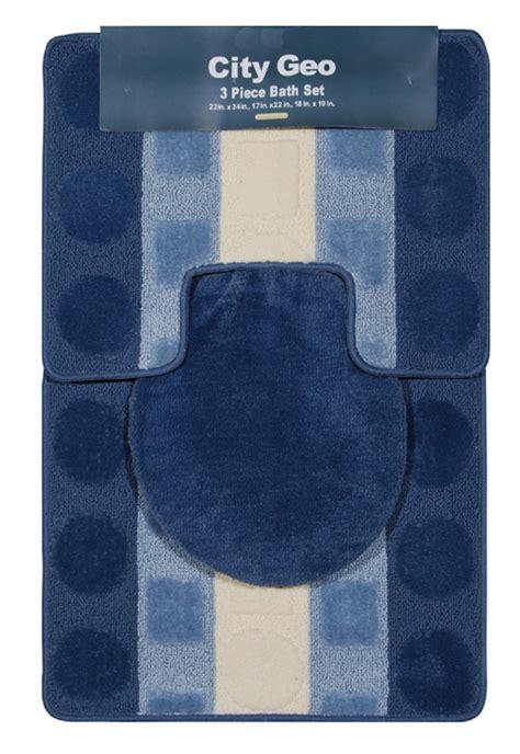 3 bath rug set modern circles stripes 3 bathroom shower ensemble bath rug mat contour set ebay