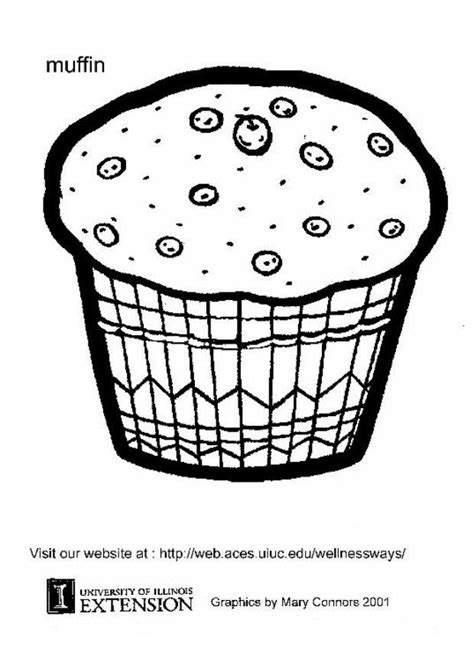 muffin coloring coloring pages
