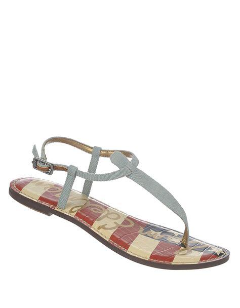 sam edelman shoes sam edelman gigi leather t sandals in blue lyst