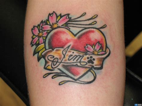 name tattoo with heart design ink tattoos with names