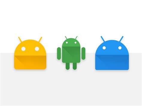 design icon android android logo icons materialup