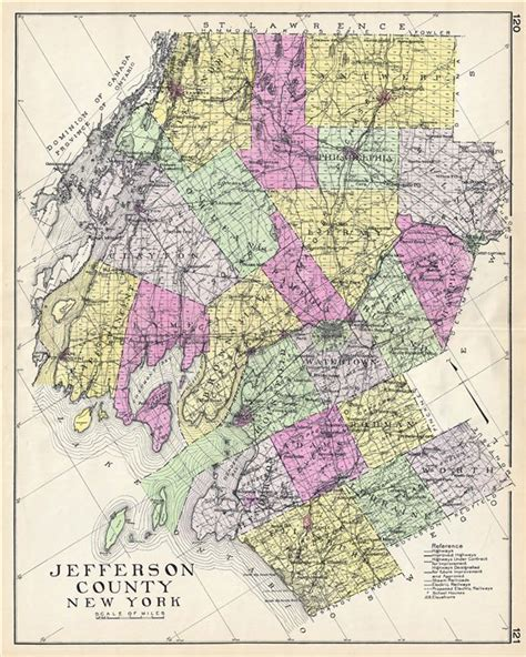 map of jefferson jefferson county new york geographicus antique maps