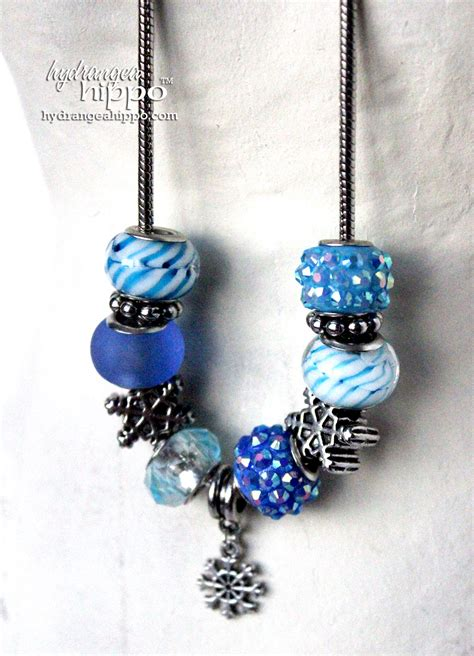 prima bead a snowy necklace for the princess hydrangea hippo by