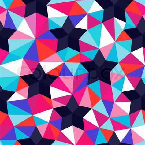 repeat pattern web background vector background of repeating geometric stars and