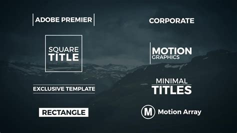 8 Minimal Titles Premiere Pro Templates Motion Array Free Motion Graphics Template Premiere Pro
