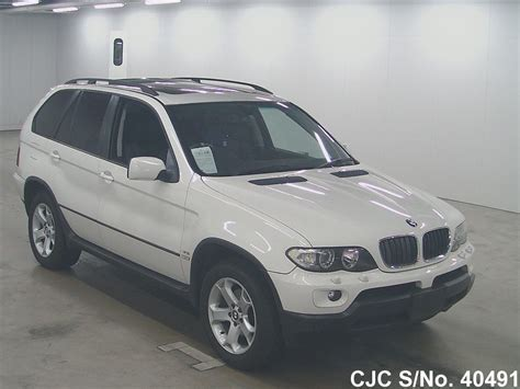 2004 bmw x5 for sale 2004 bmw x5 white for sale stock no 40491 japanese