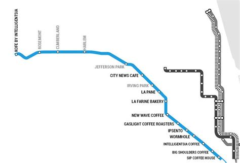 chicago blue line map the best coffee shops in chicago near every cta stop