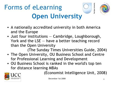 Cambridge Mba Distance Learning by E Learning Presentation