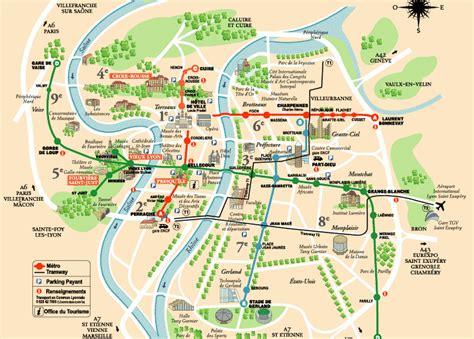 lyon plan  carte de la ville lyon en