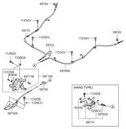 Emergency Brake System Diagram 59750 2b600 Genuine Hyundai Cable Assy Parkng Br