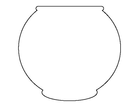 printable fish bowl template cliparts co