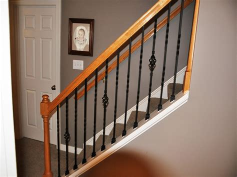 Iron Stair Rails And Banisters by Easy Rod Iron Stair Railing Choosing Rod Iron Stair