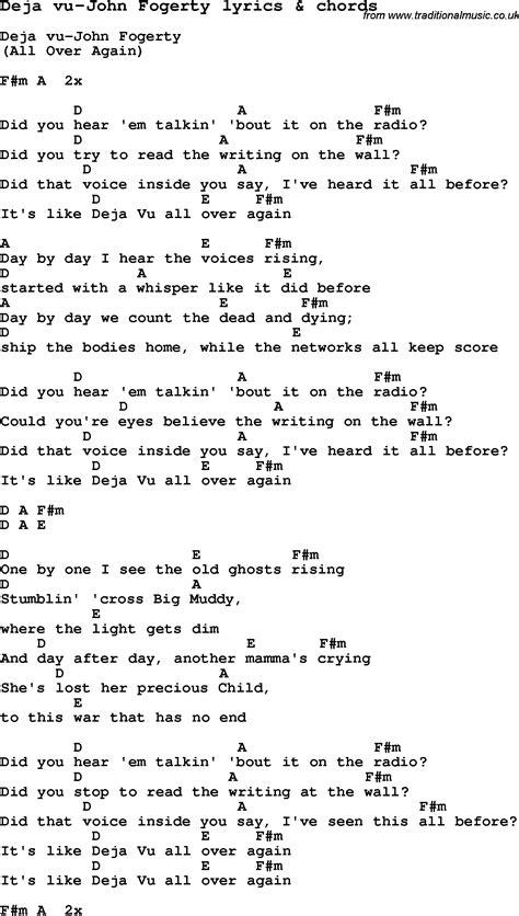 eminem deja vu lyrics love song lyrics for deja vu john fogerty with chords
