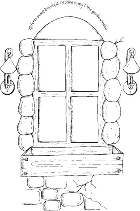 Garden Window 2 Coloring Pages Window Coloring Pages